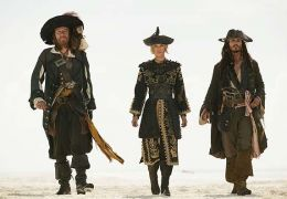 Captain Barbossa (Geoffrey Rush), Elizabeth Swan...erved.