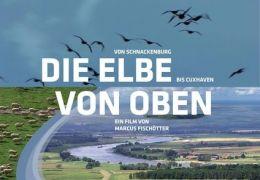 Die Elbe von oben - Plakat